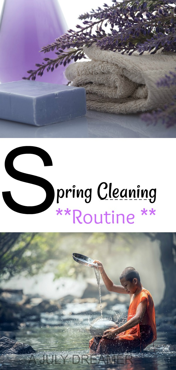 Spring cleaning routine