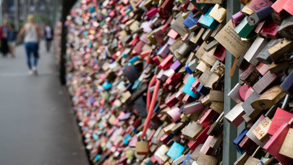 Love lock bridge Cologne