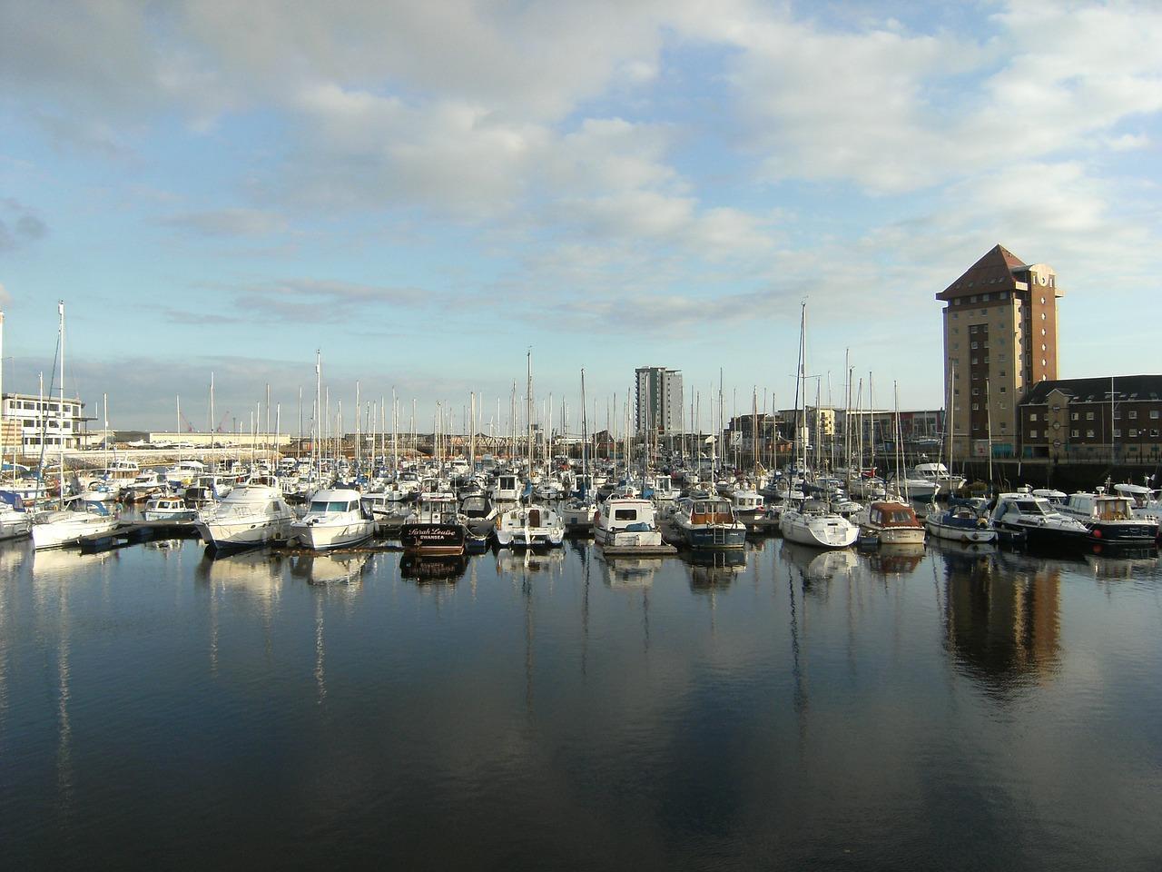 Boats in Swansea Bay