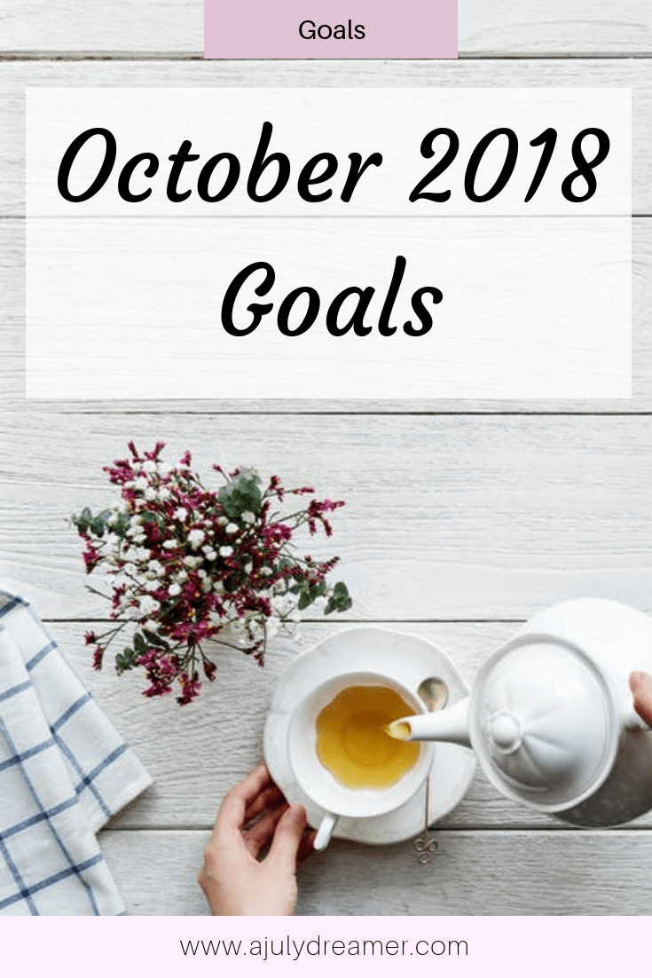 October 2018 goals are part of the monthly goal-setting series where I share my plans for the month. At the start of each month, I take some time to think of things I want to accomplish.