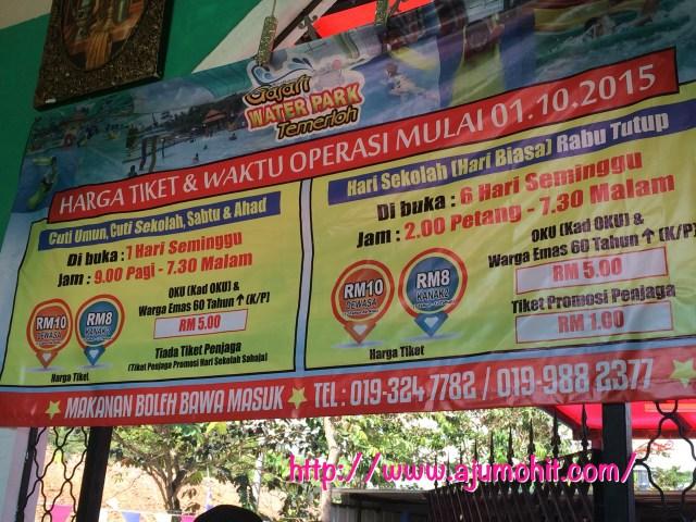Harga tiket Kubang Gajah Mini Water Park