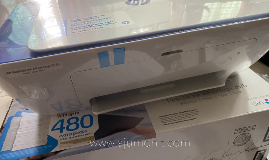 Printer HP 2676 wireless All in One, cetak terus dari handphone