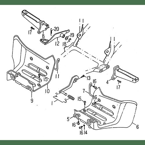 Stand Footrest (LRX/SMC Blast ATV 150)