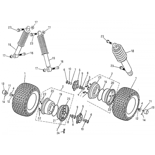 Front Wheel, Suspension (Blazer 50cc ATV)