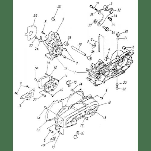 Crankcase (Adly ATV 50cc 2T)