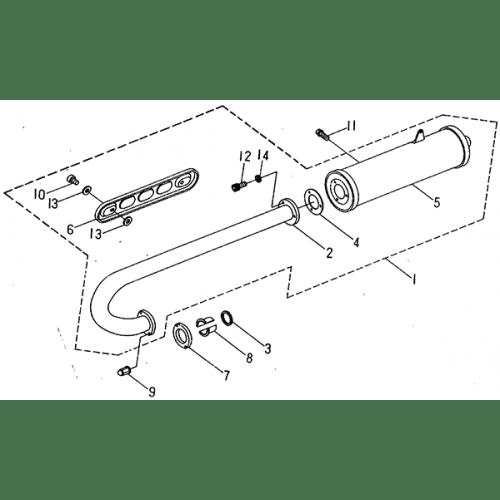 Exhaust Muffler (Barossa ATV 170)