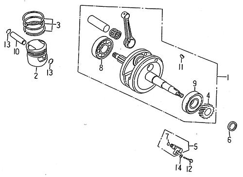 Crankshaft Piston (LRX/SMC Blast ATV 150)