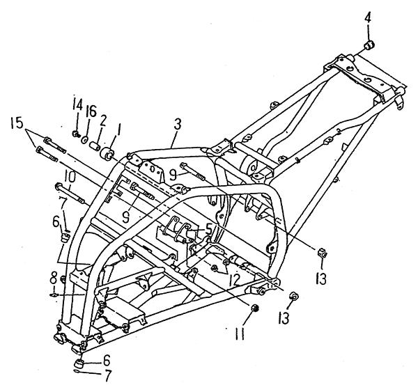 Frame (LRX/SMC Blast ATV 170)