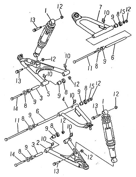 Front Suspension (LRX/SMC Blast ATV 150)