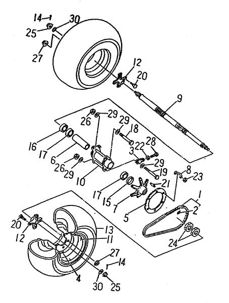 Rear Wheel (LRX/SMC Blast ATV 150)