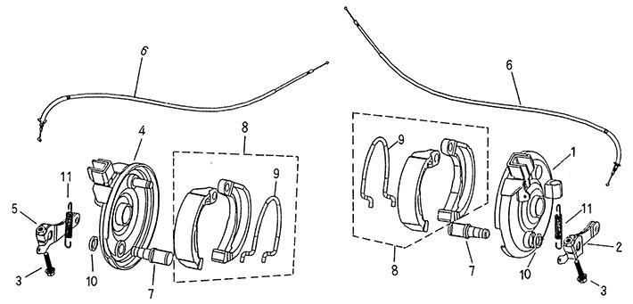 Front Brake (Blazer 50cc ATV)