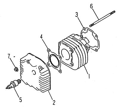 Cylinder (LRX/SMC ATV 50 mini)