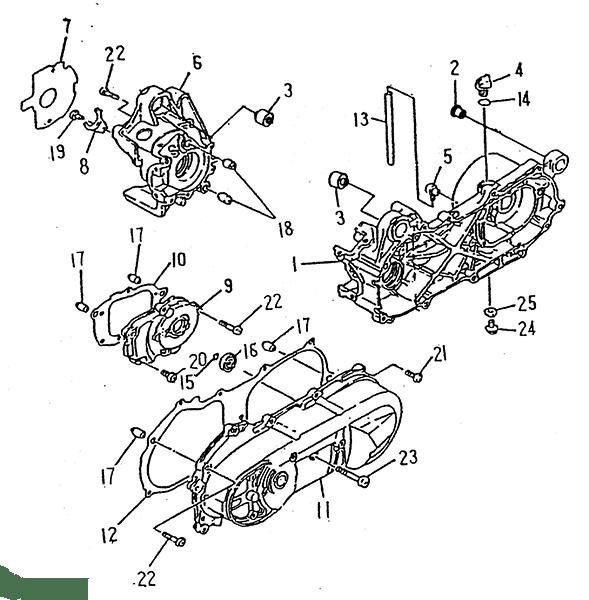 Crankcase (LRX/SMC ATV 50 mini)