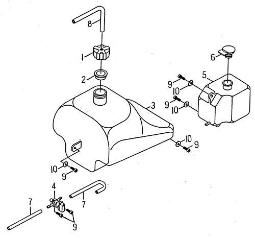 Fuel Tank (LRX/SMC ATV 50 mini)