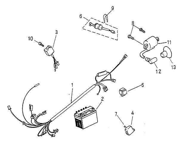 Electrical Parts (Blazer 90cc ATV)