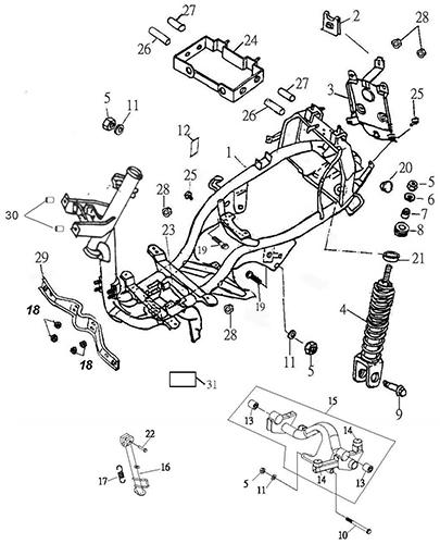 Frame Body (Thunder Bike 150)