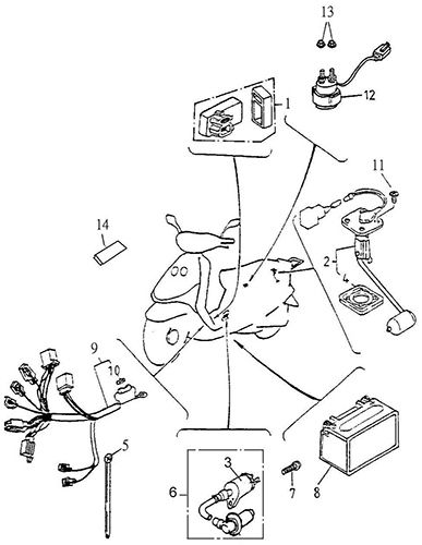 Electrical Equipment, CDI (Thunder Bike 150)