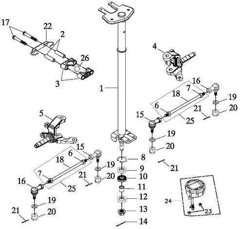 Steering (Adly ATV 150S II CrossXRoad)