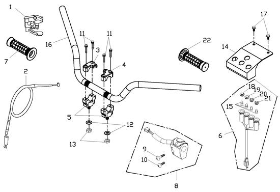 Handle Bar (Adly ATV 150S Interceptor)