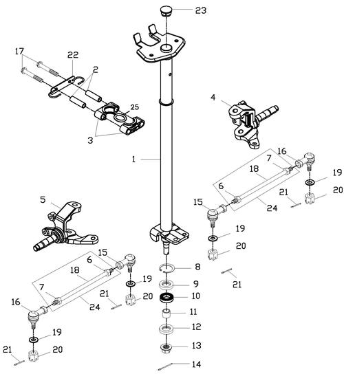 Steering (Adly ATV 150S Interceptor)