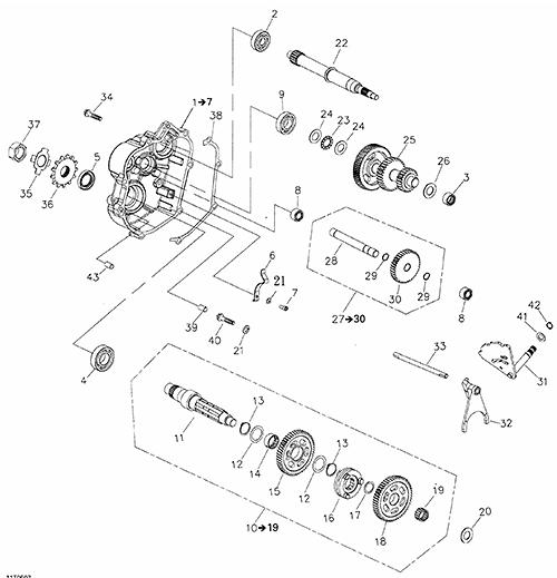 Gear Shift (Adly ATV 200S)