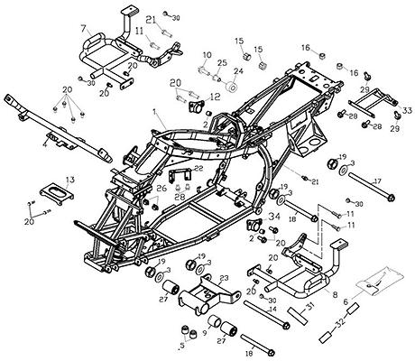 Frame Body (Adly ATV Q300)