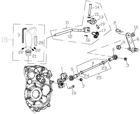 Gear Shift System (Adly ATV Q300)