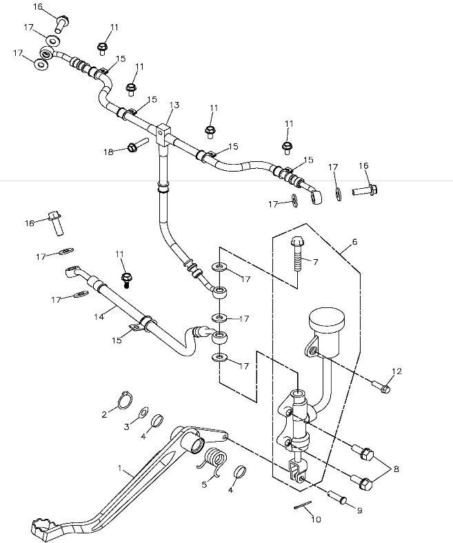 Rear Brake (Adly ATV 300S II CrossXRoad)