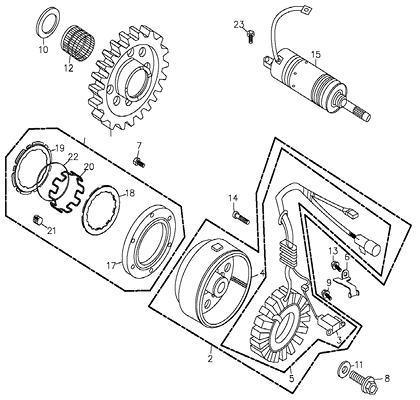 Generator (Adly ATV 300U II)