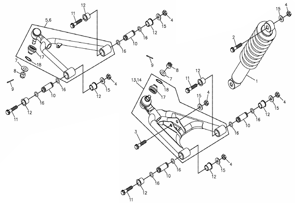Arm (Adly ATV 300U II)