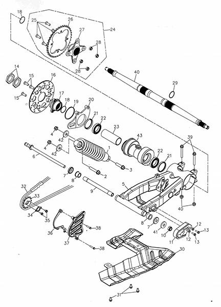 Swing Arm Sub Assy (Adly ATV 300U)
