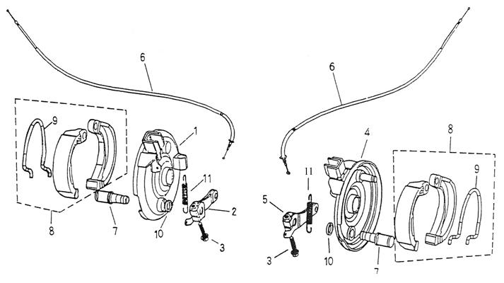 Front Brake (Adly ATV 50cc 2T)