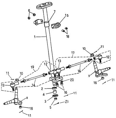 Steering (Adly ATV 50cc 2T)