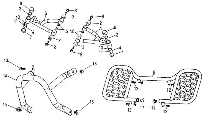 Arm, Floor Panel, Bumper (Adly ATV 90cc 2T)