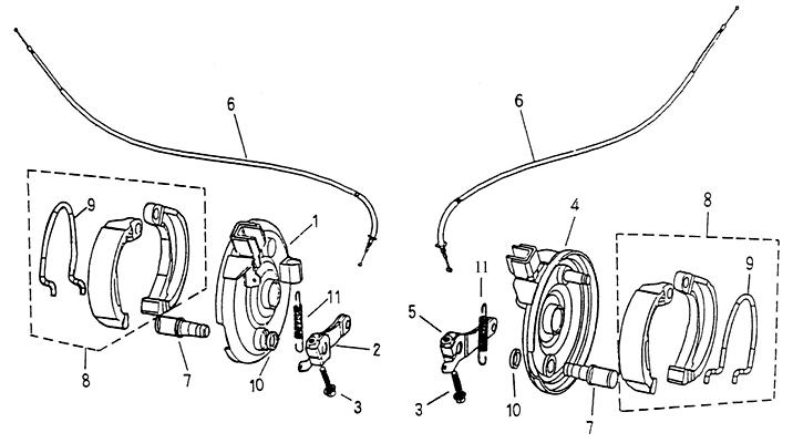 Front Brake (Adly ATV 90cc 2T)