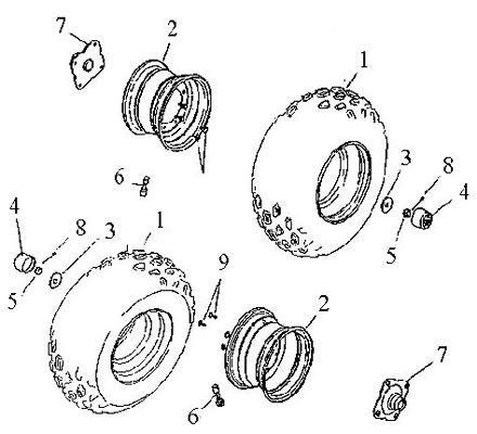 Rear Wheel (Adly ATV 90cc 2T)