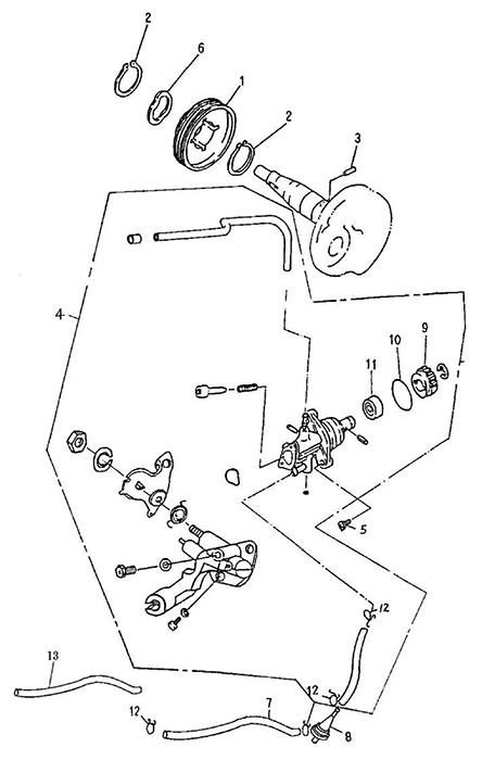 Oil Pump (Adly Atv 100D)