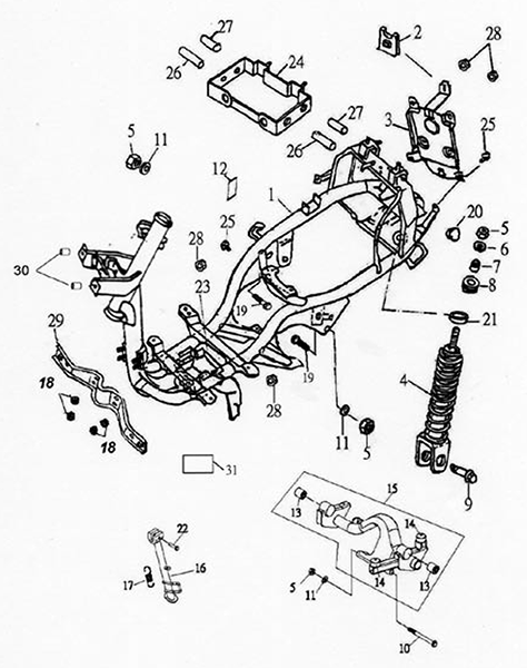 Frame Body (Lambretta UNO150)