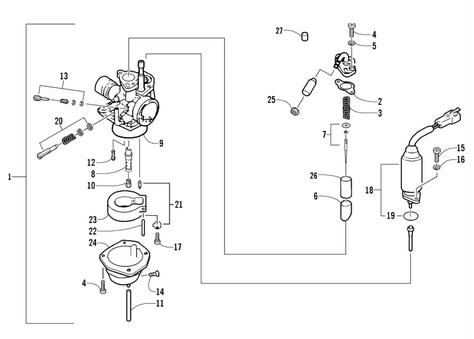 Carburetor Assembly (Arctic Cat 90 2T)