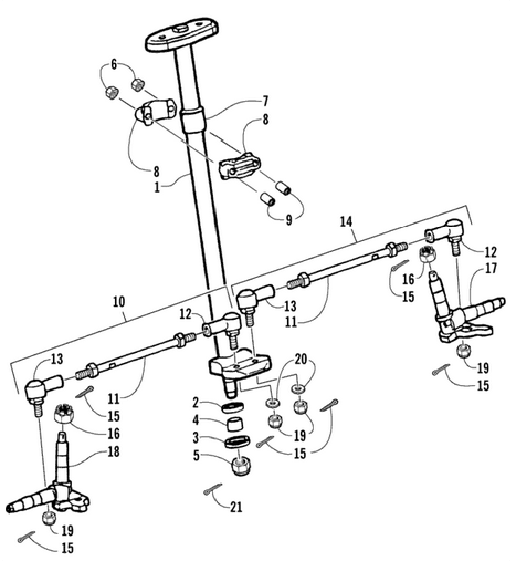 Steering Assembly (Arctic Cat 90 2T)