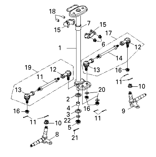 Steering (Bombardier Mini DS 90 4T)