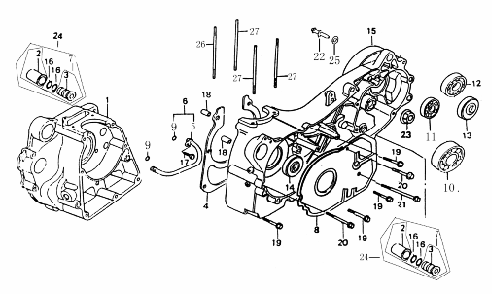 Crankcase (Dazon Buggy 175)