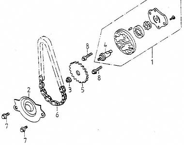 Oil Pump (Adly GK-125 2009)