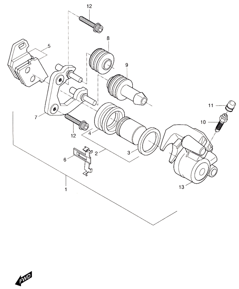 Front Caliper (Hyosung Sense SD-50 Scooter)