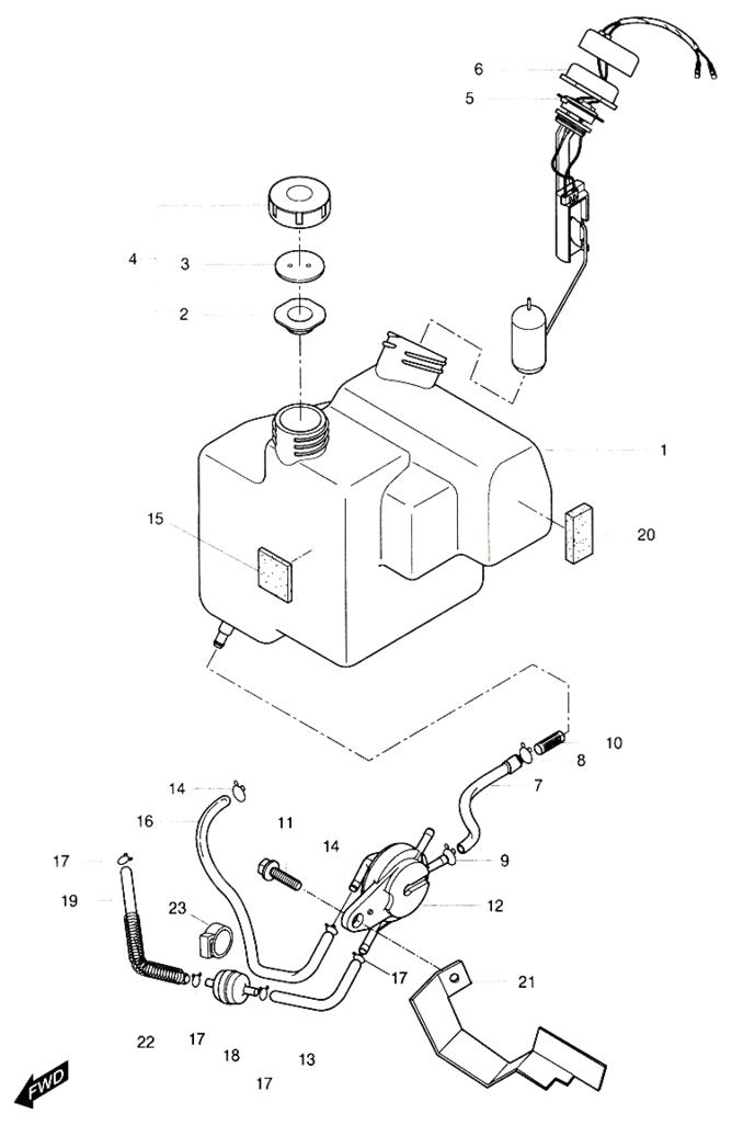 Fuel Tank (Hyosung Sense SD-50 Scooter)