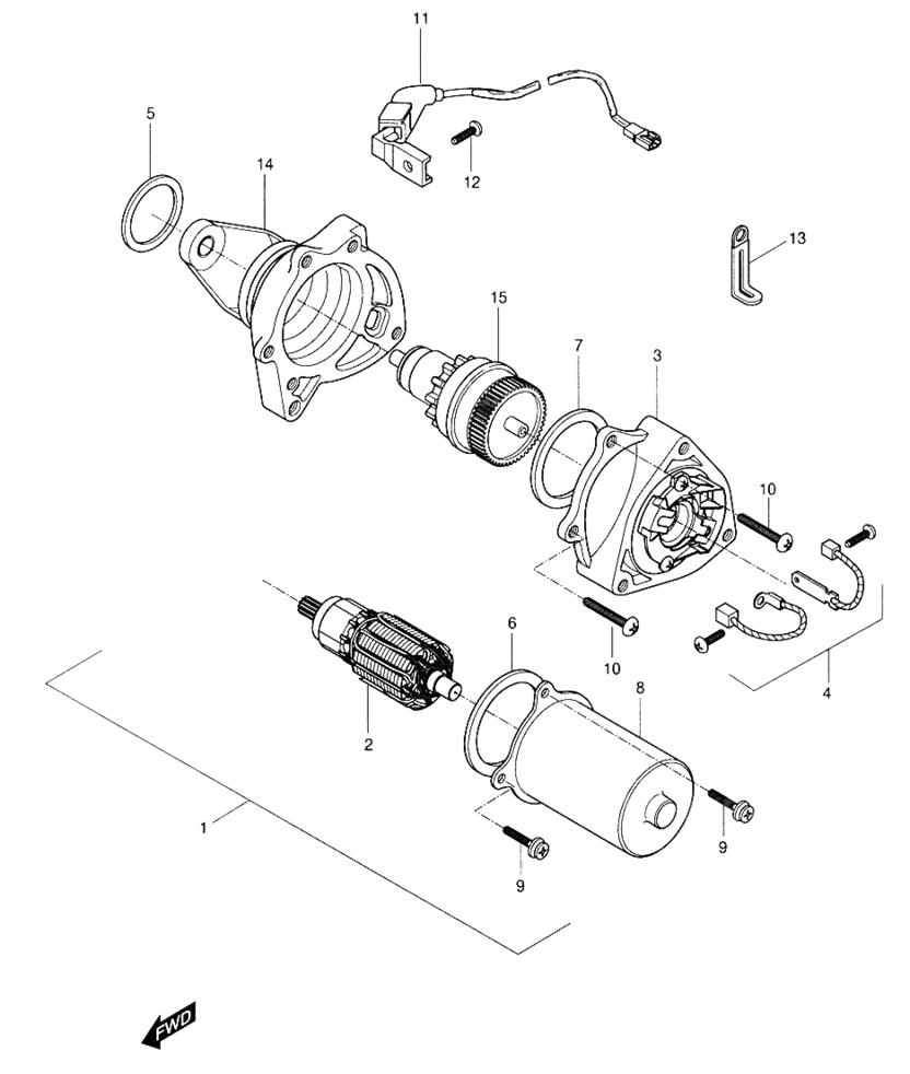Starting Motor (Hyosung Sense SD-50 Scooter)