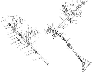 Steering Shaft Assembly (Kasea Adventure Buggy 150)