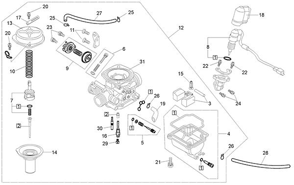 Carburetor (Kasea LM150IIR 2003)