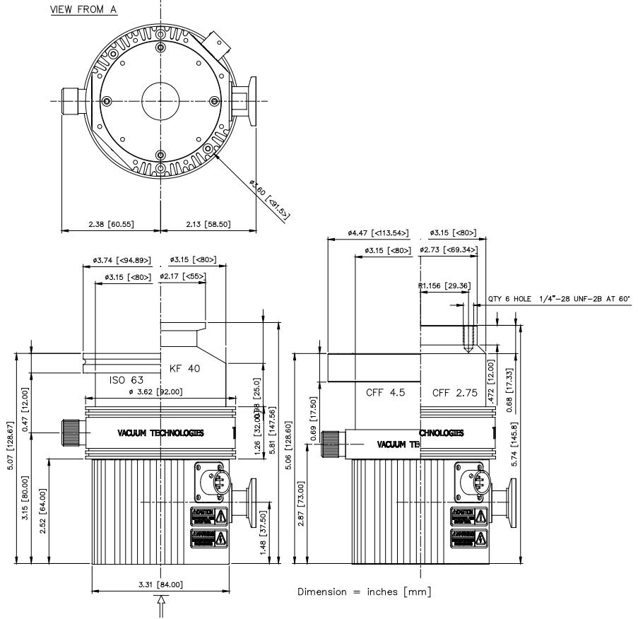 Agilent TV81T Turbo Pump For GCMS, ISO 63, 9698905M001