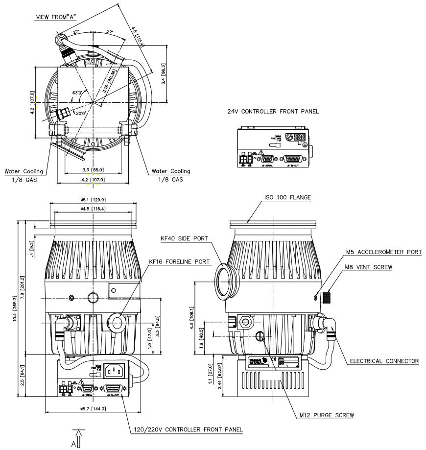 Agilent TV 301SF, Varian TV301SF Turbo Pump, 9698917